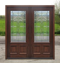 Exterior Double Doors - Solid Mahogany Wood Double Doors