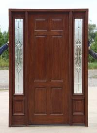 "Exterior Doors with Sidelites 8' 0"" - Solid Mahogany Doors"