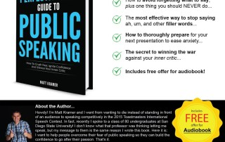 The Perfectionist's Guide To Public Speaking by Matt Kramer