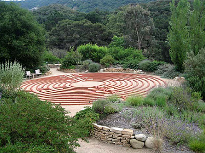 Garden Design, Water Features, Stone, Reseda, California, CA - labyrinth garden design