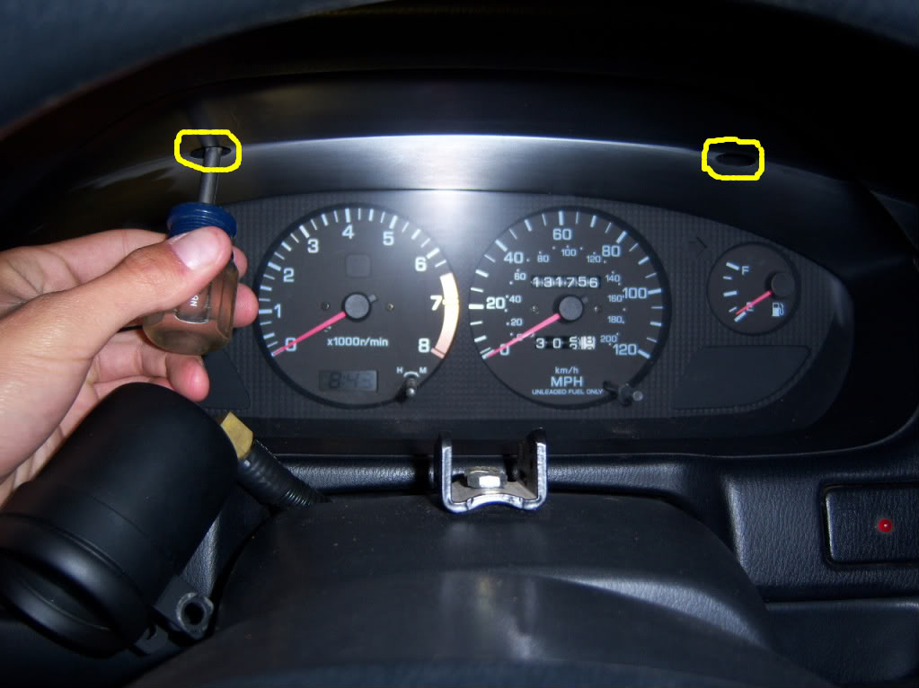 Replacing Gauge Cluster Lights on an S14