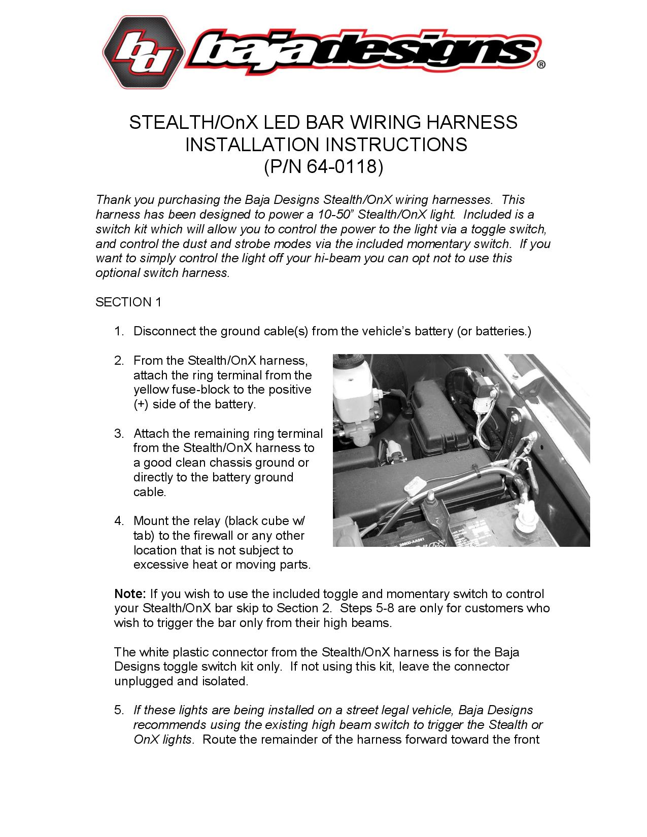 OnX Wiring Harness 64 0118.pdf page 001?quality=80&strip=all how to wire two led light bars to one switch led light bars lit up illuminator wiring harness instructions at panicattacktreatment.co