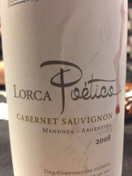 Lorca Poético Cabernet Sauvignon 2008
