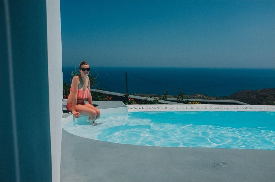 Santorini Travel Blogger