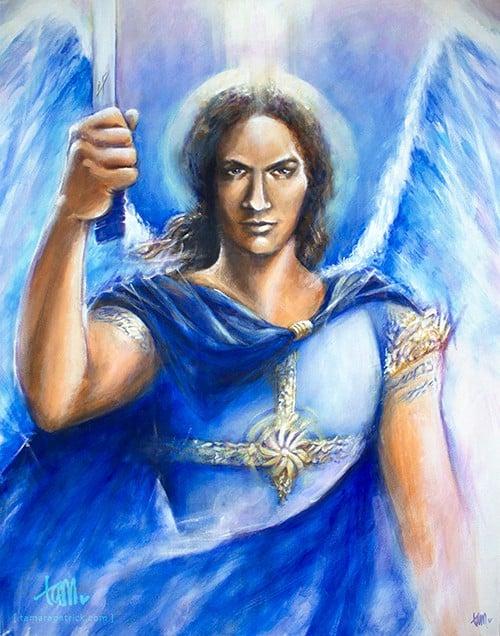 paint michael 500 Overgave   over Schilderen en Goddelijke begeleiding