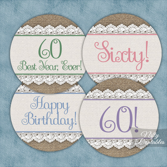 60th Birthday Party Invitations  Decorations - Sixty years old