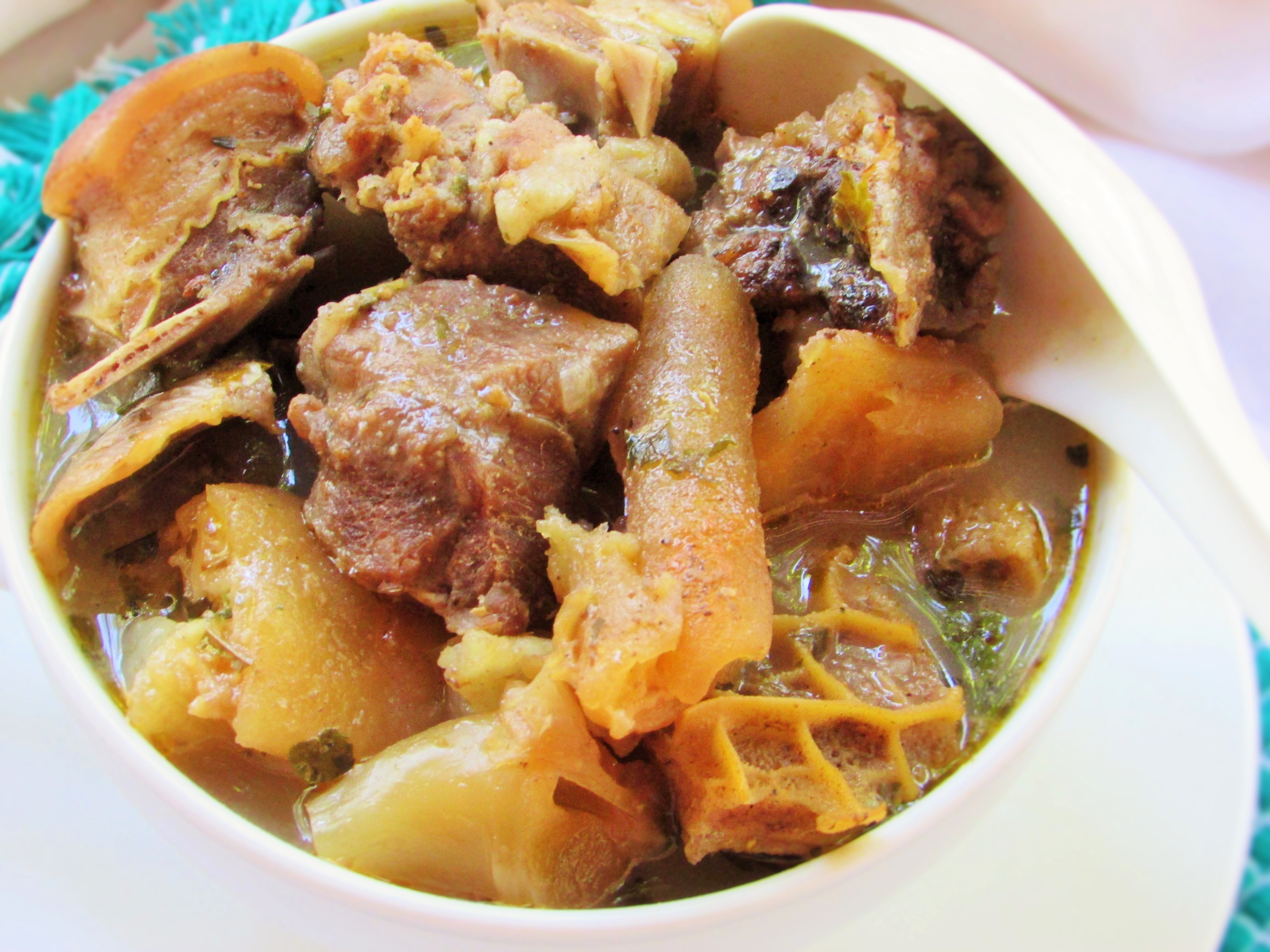 assorted meat peppersoup nigerian lazy chef
