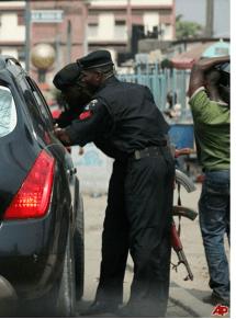Nigeria Police on Roadblock