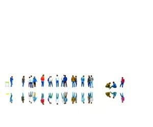 Стела Василева, Говорещи хора, цветни маркери, хартия, 50х60