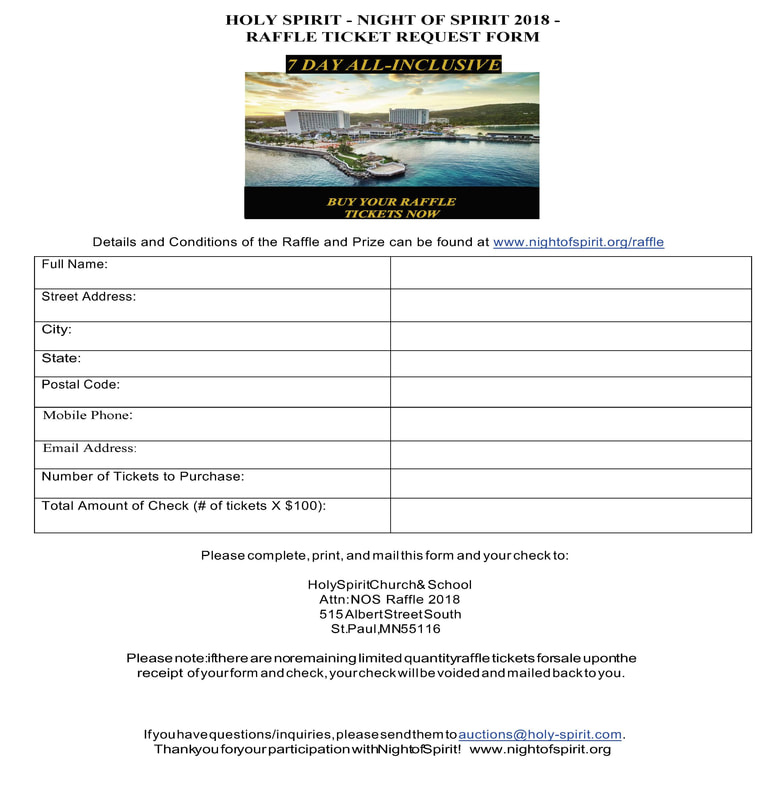 SAVE - raffle ticket request form - NIGHT OF SPIRIT 2018 - request form