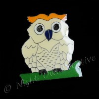 Enamelled Owl Tie Tack/Lapel Pin - Night Owl Creative