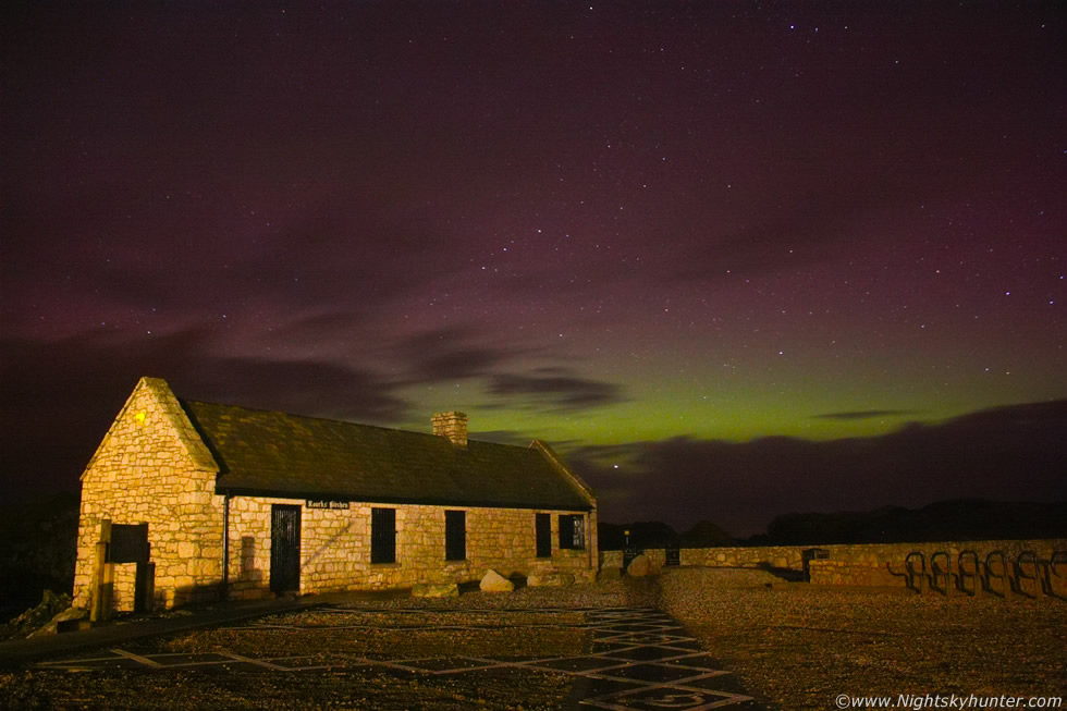 Black And Red Wallpaper Ballintoy Harbour Aurora Jan 22nd 2012