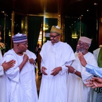 [PHOTOS] Buhari Meets Senators Over IGP-Senate Faceoff