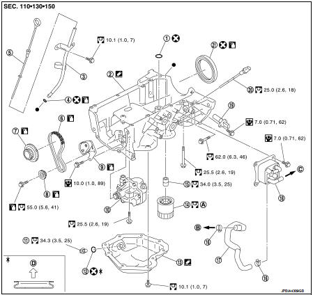 Exploded View - Unit disassembly and assembly - Engine Lubrication