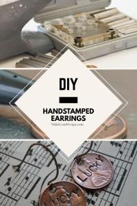 Hand Stamped Penny Earrings   Nikki Lynn Design