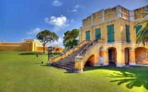 Altes Zollhaus in Christiansted, St. Croix. Die Insel gehört zu den US Virgin Islands.