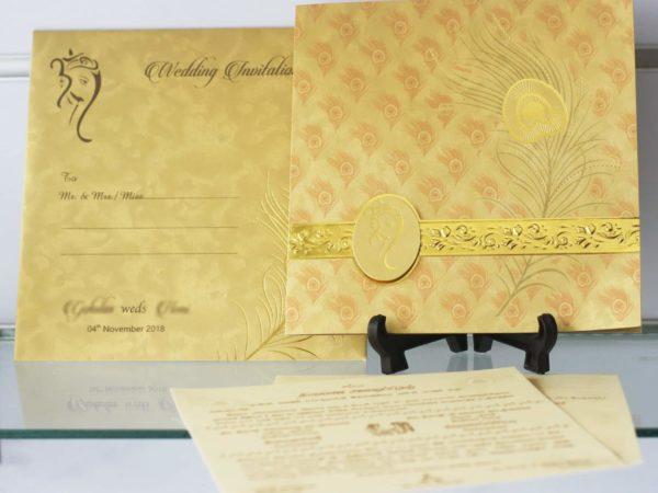 Hindu Wedding Card Invitation Red Nila Cards