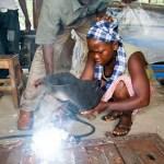 Aminata Conteh, 18, metal worker,  Makeni, Sierra Leone. Photo © Nile Sprague