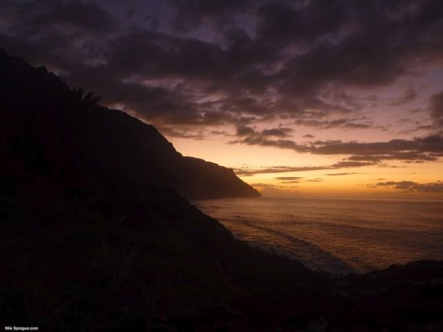 Kalalau Sunset, Napali Coast, Kauai, USA.