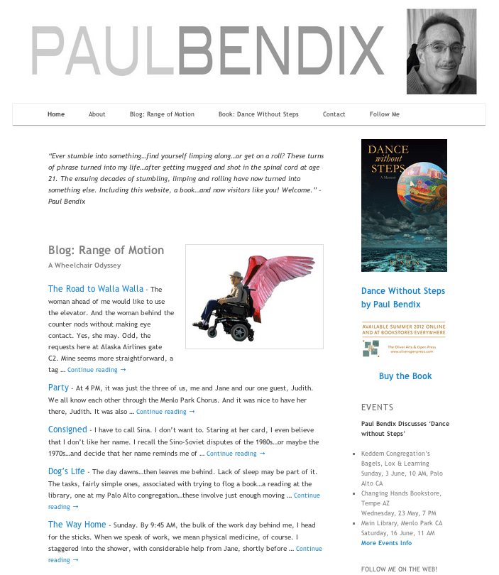 PaulBendix.com homepage screenshot