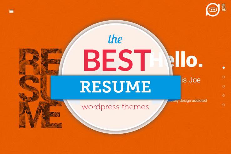 55+ Best WordPress Resume Themes 2018 - wordpress resume themes