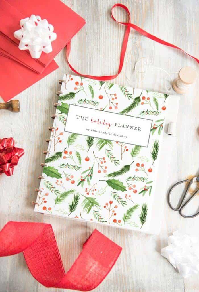 Holiday Planner Printable for Christmas Nina Hendrick Design Co