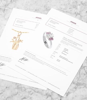 Free Valuation Reports for every Diamond  Jewellery Purchases