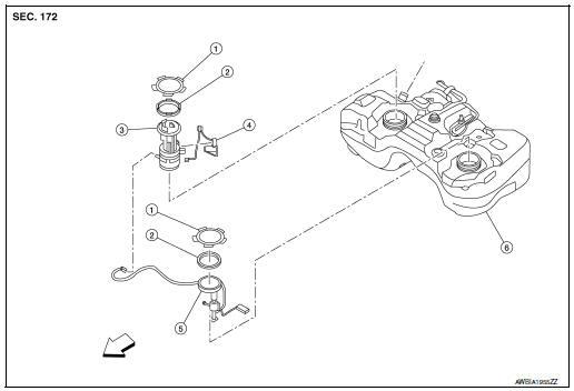 Nissan Rogue Service Manual Fuel level sensor unit, fuel filter and