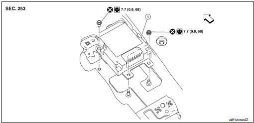 Nissan Rogue Service Manual Air bag diagnosis sensor unit - Removal