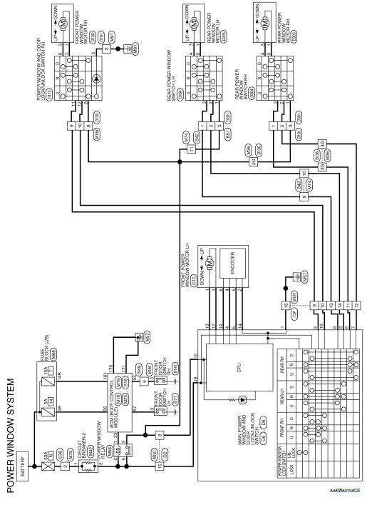 Nissan Rogue Service Manual Wiring diagram - Power Window Control