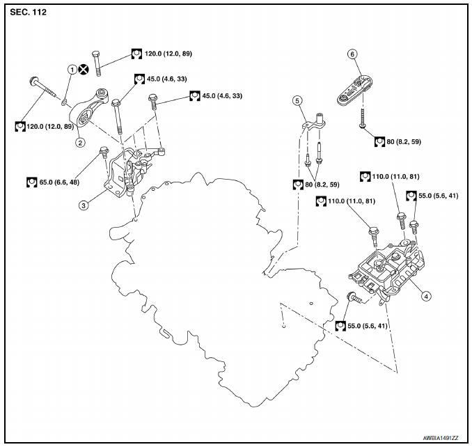 Nissan Sentra Service Manual Engine assembly CVT - Unit removal and