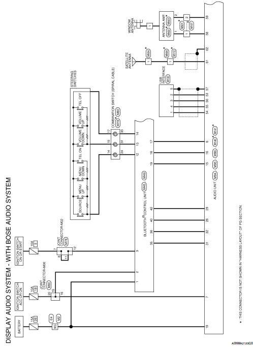 Nissan Sentra Service Manual Wiring Diagram Navigation With Bose