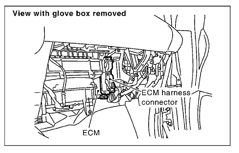 diagram in addition 2004 nissan maxima ecm location on 2000 nissan