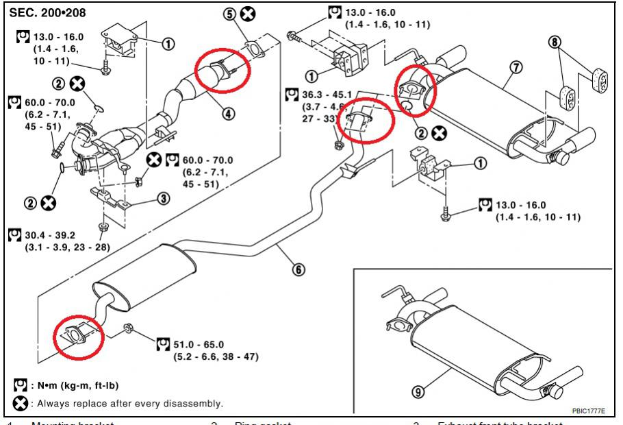 Murano Muffler Flange rust - Nissan Murano Forum