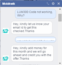 Microsoft Mobikwik Lum300 Not working