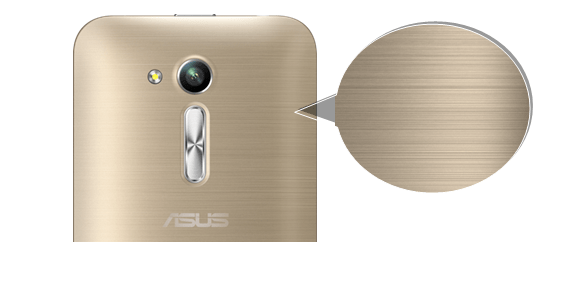 Asus Zenfone Go Metallic Hairline Finish