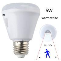 E27 6W LED PIR Motion Sensor Detector Infrared Nightlight ...