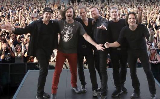 The Hooters perform at the Borgata in Atlantic City, May 27.