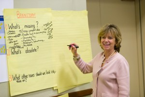 Attendees split into small groups to review the Center's status and identify challenges.