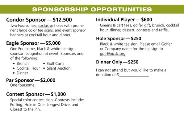 golf tournament sponsor form - Erkaljonathandedecker