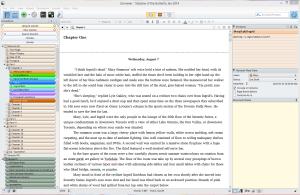 Scrivener layout
