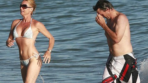 Steve Pate and Nicollette at Malibu My cousin Steve Pate and Nicolette Sheridan hit the beach photo