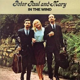 Mary Travers on the cover of In The Wind the Peter Paul and Mary hit album