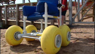 Beach wheelchair CBC says PEI beach is now wheelchair accessible  photo
