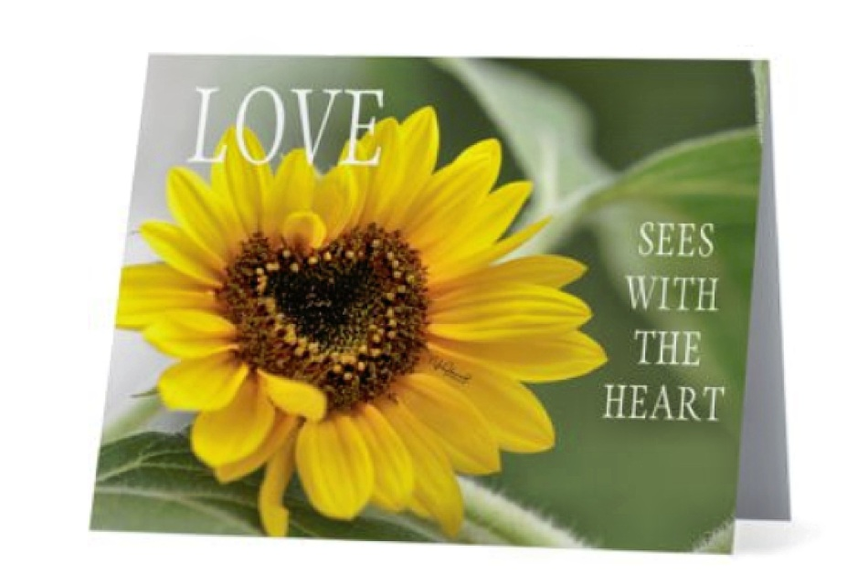 Premium Note Card Set - Love Sees With the Heart Blank Inside