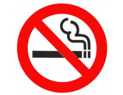 cigarette with no entry sign