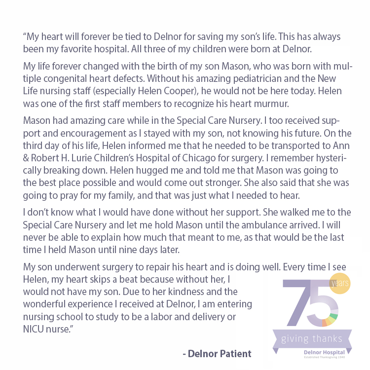Delnor Celebrates 75 Years Northwestern Medicine
