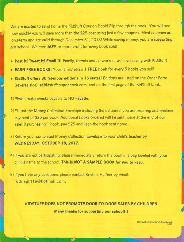 PTA / KidStuff Coupon Book \u2022 Oct 24
