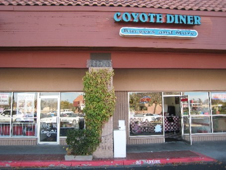 Coyote Diner for burgers and so much more