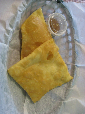 Sopaipillas with honey